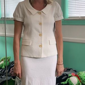 Theory White skirt / suit combo